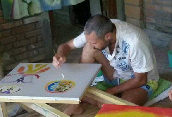 adrian roma bali silk painting