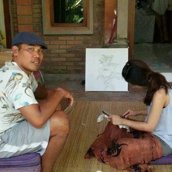 rieke bali silk painting